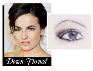 Down turned eyes eyeliner faiza beauty cream